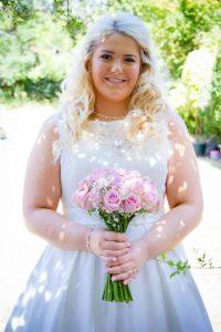 Bride with beautiful makeup